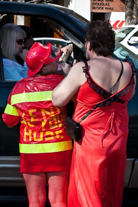 Edmonton Hasher's Red Dress Run 2009