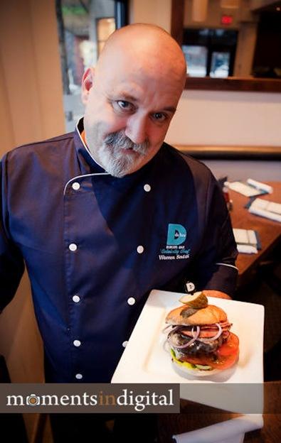 Warren Smith with his Redneck Burger
