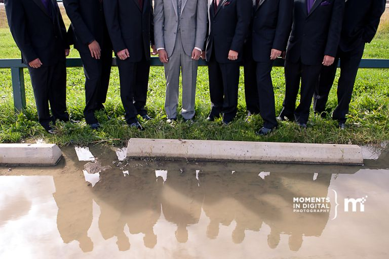 Edmonton Wedding Photographer - Groomsmen Reflection