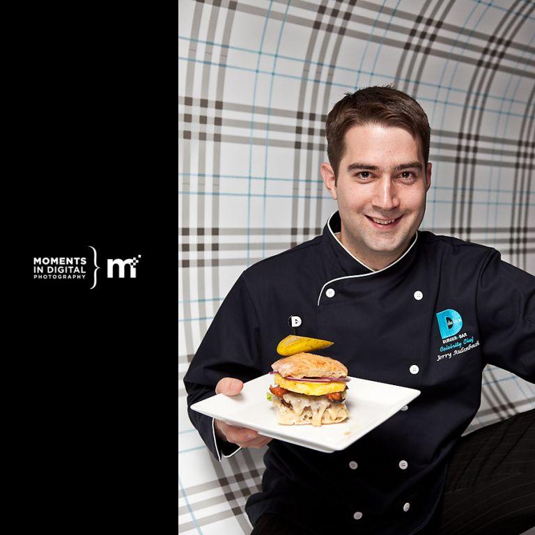 Delux Burger Celebrity Chef Jerry Aluenbach