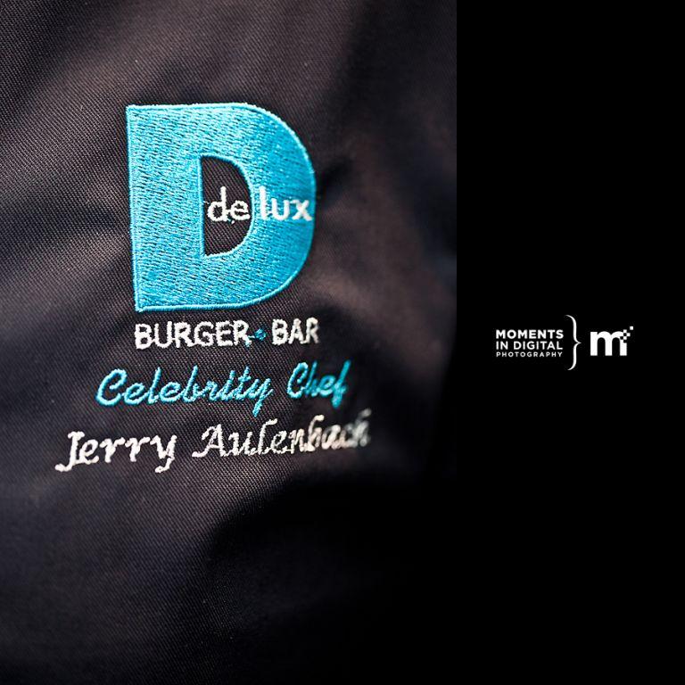 Delux Burger Celebrity Chef Jerry Aluenback