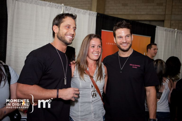 David Good & Jesse Kovacs pose for photos with fans in the Hot 107 VIP Lounge