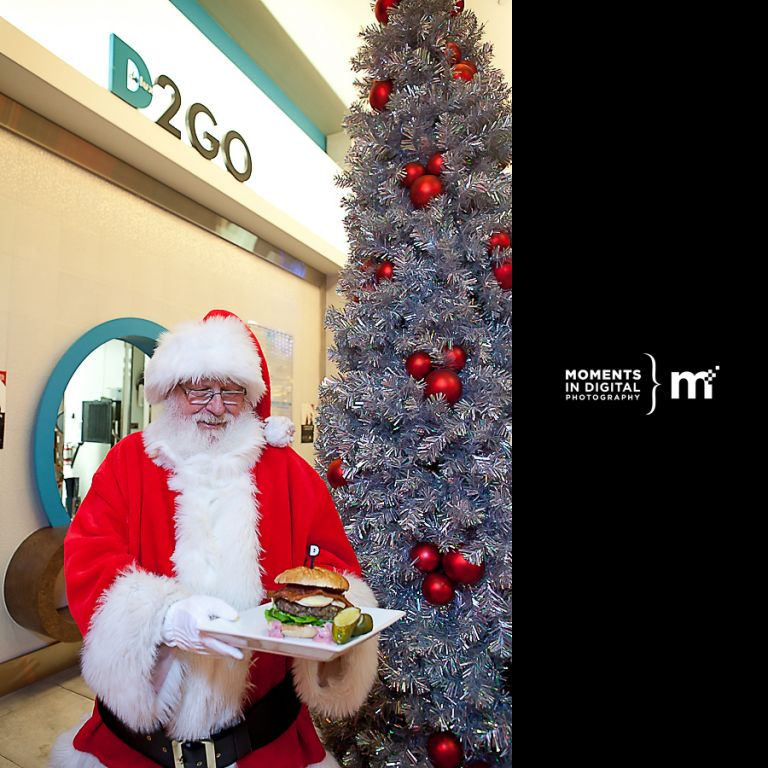 Edmonton Commercial Photography - Santa Claus at Delux Burger