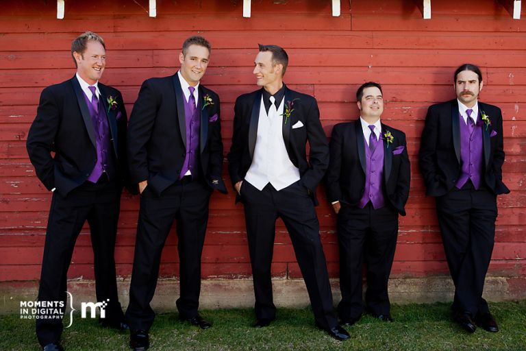 Groom with his Groomsmen - Wedding Photos in Edmonton