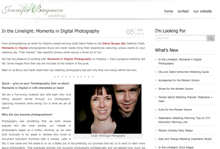 Edmonton Wedding Photographers - In the Limelight with Jennifer Bergman Weddings