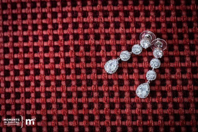 Wedding Earrings - Edmonton Wedding Photographers Moments in Digital