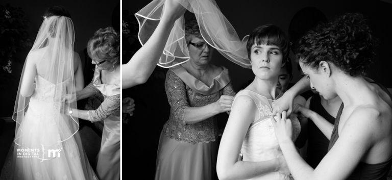 Edmonton Wedding Photographers - Bride Getting into her dress