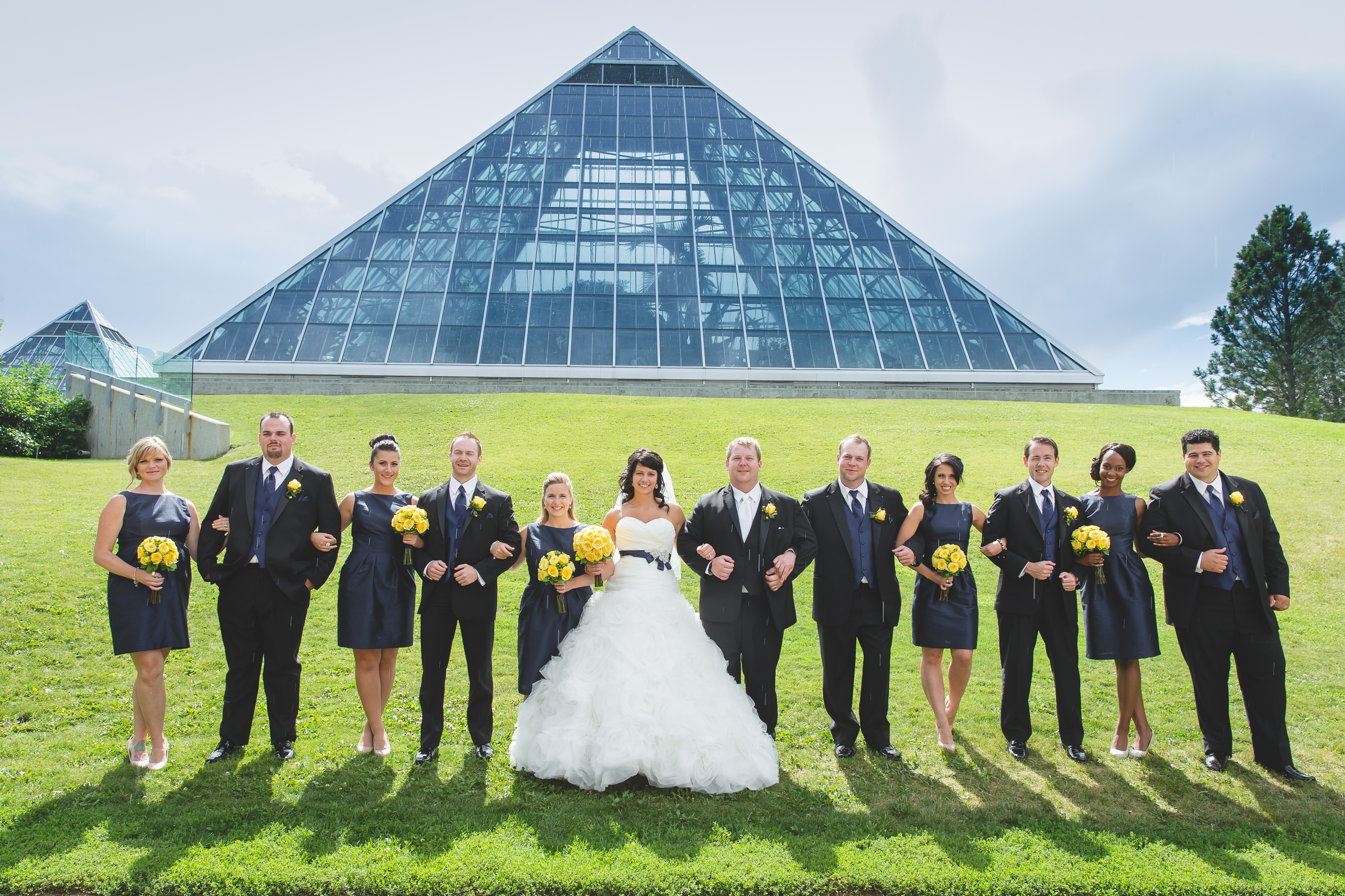 Bridal Party Photographs at the Muttart Conservatory