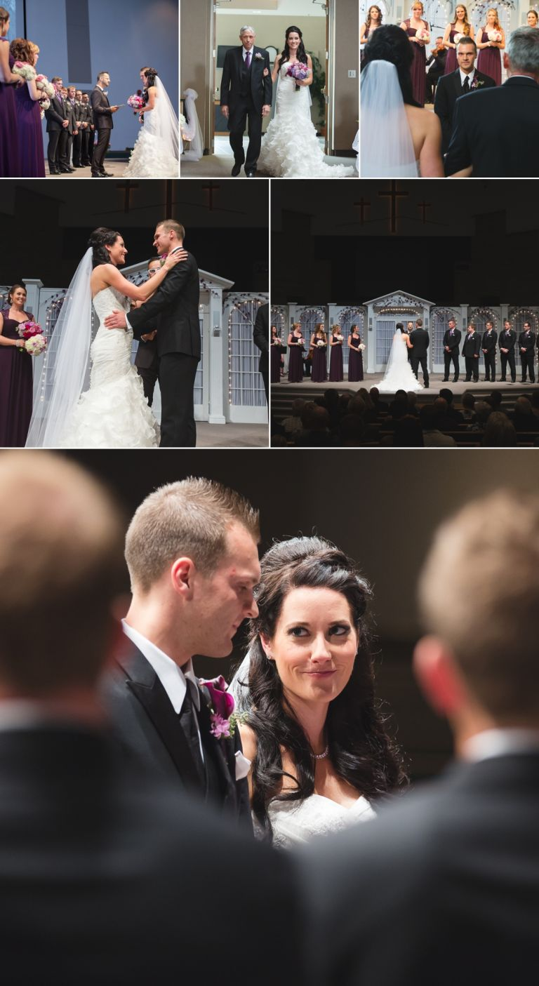 Wedding at Millwoods Pentecostal Church in Edmonton Alberta