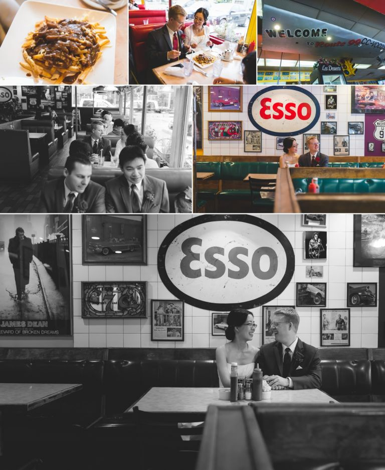 Wedding Photography at Route 99 Diner in Edmonton