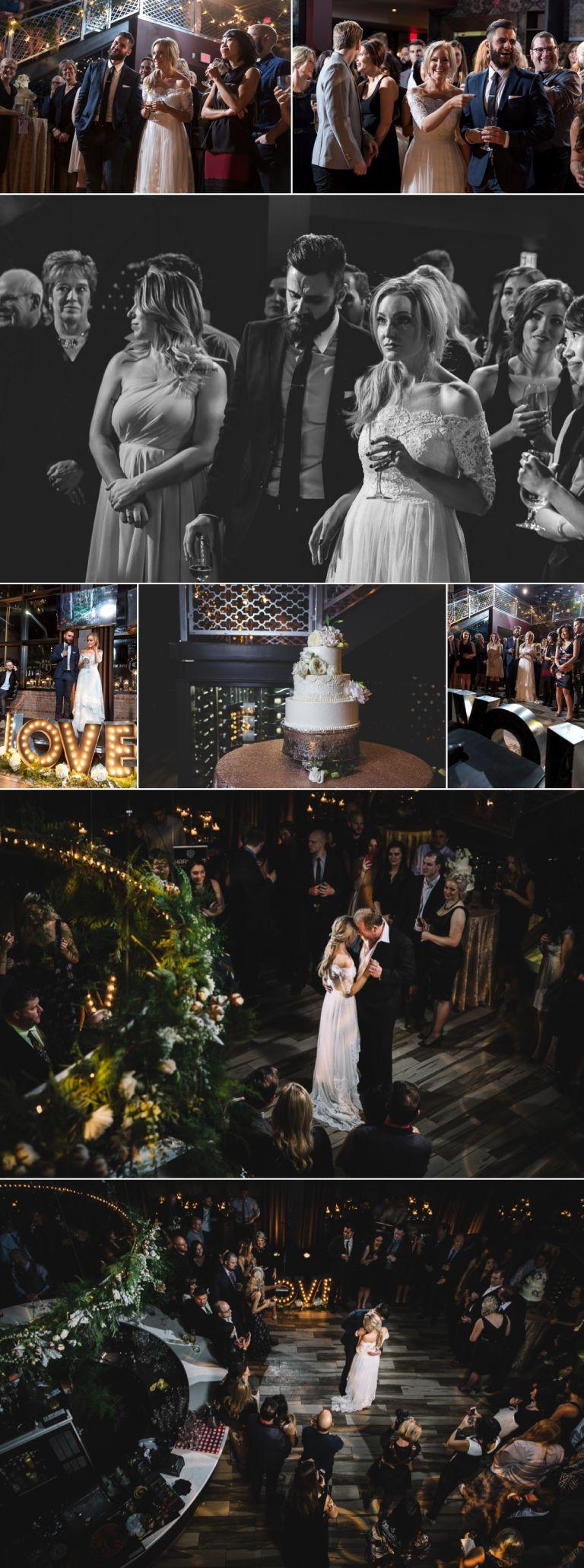 Nicole Ashley Wedding Photos at the Parlour Restaurant