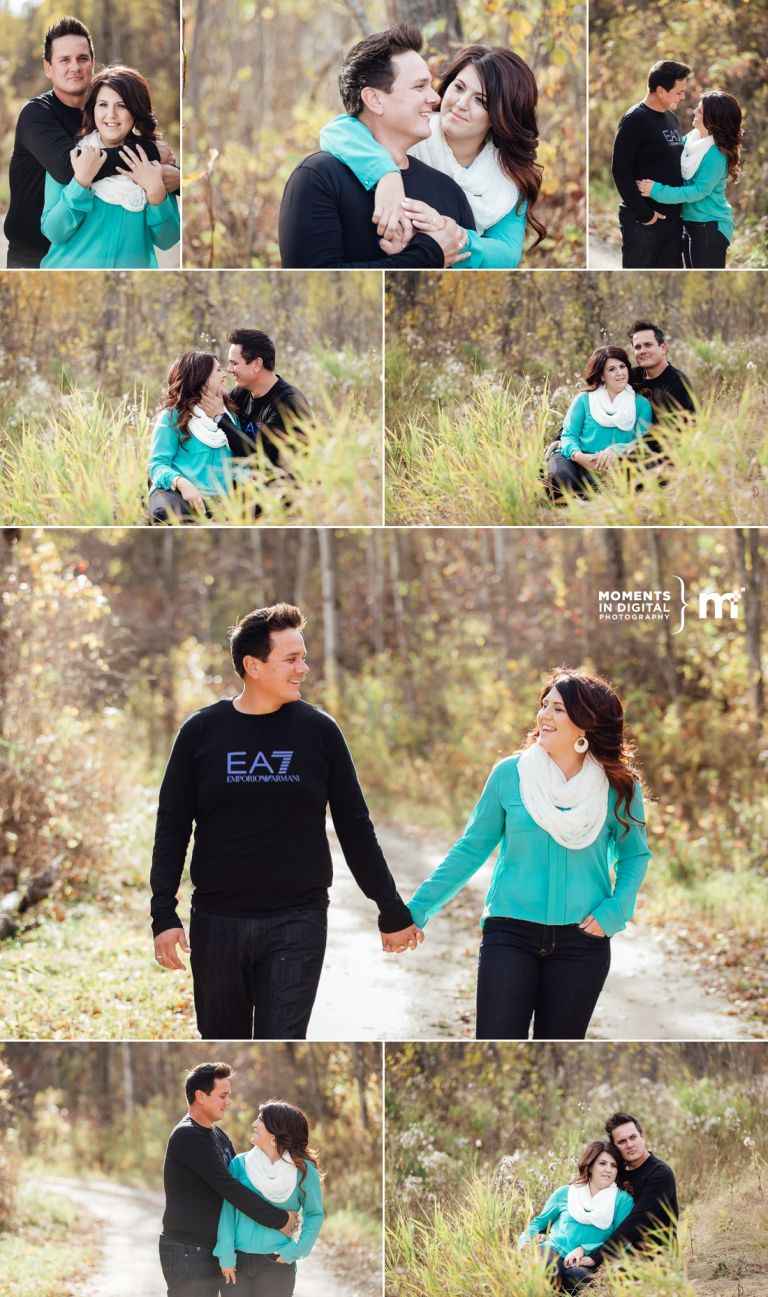 Crystal & Devin's Engagement Session in Edmonton's River Valley