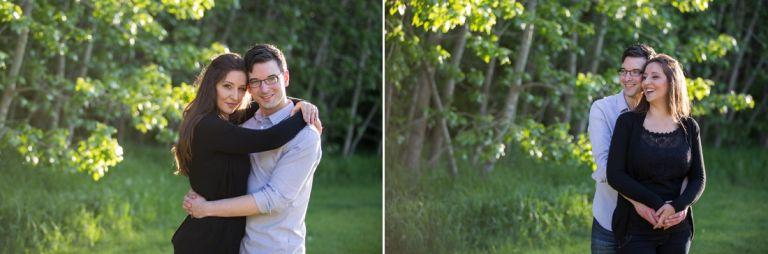 Engagement photography in Edmonton - Stacey & Robert