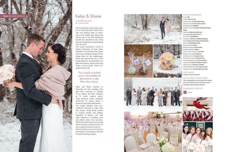 Edmonton Wedding Photographers - Featured Wedding in Blush Magazine