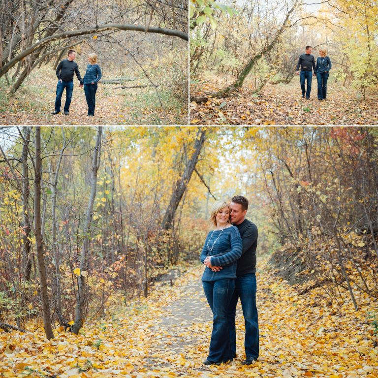 Robyn & Martin's Fall Engagement Session in Edmonton 2