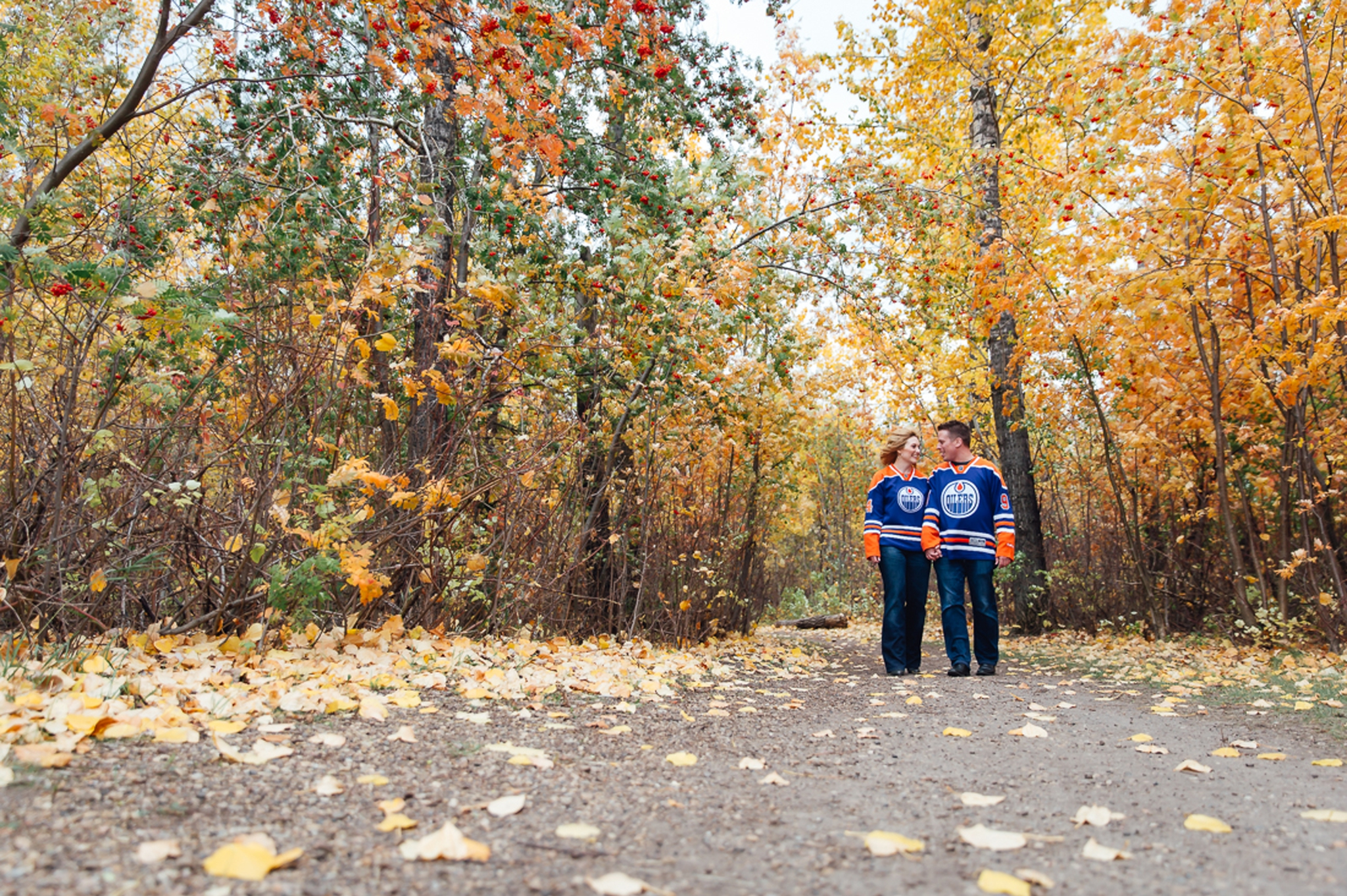 Engagement Photographs in Edmonton's River Valley