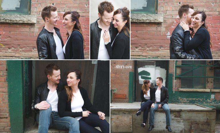 Chantal & Rhys - Engagement Photos in Downtown Edmonton 1
