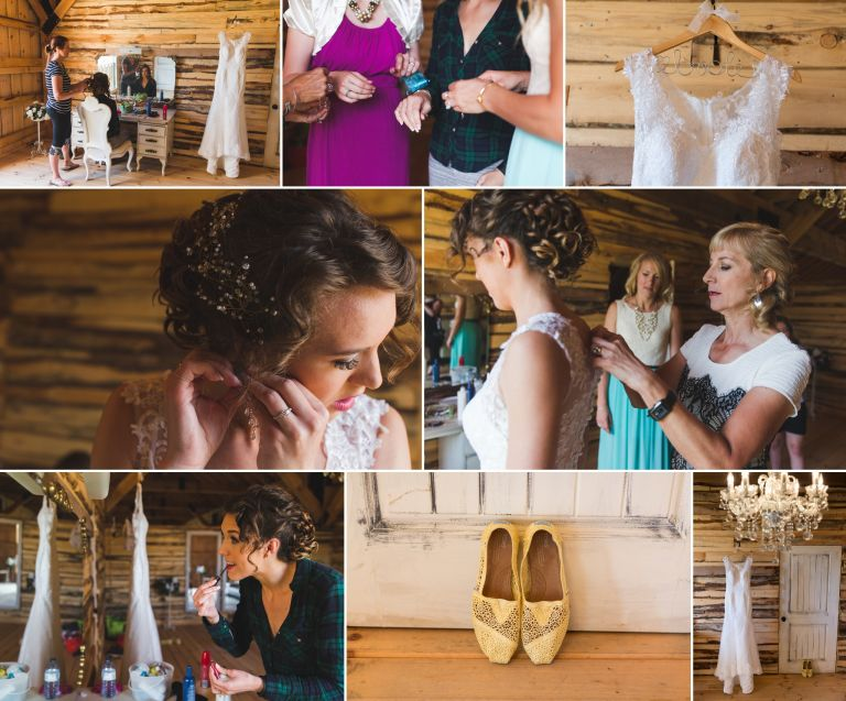 Michelle & Scott's Rustic Wedding at Lions Garden 1