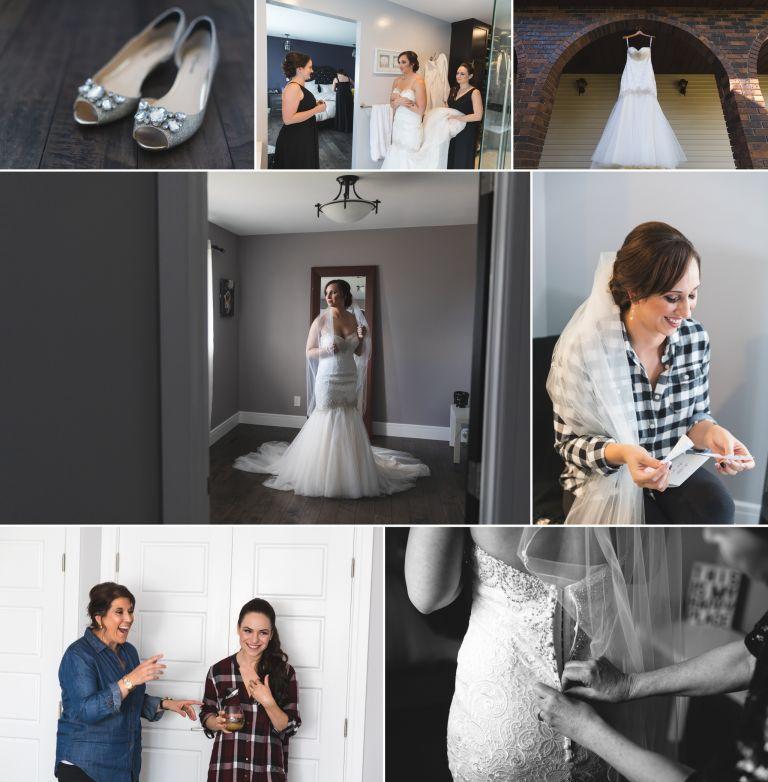 Bride getting ready photos in Edmonton