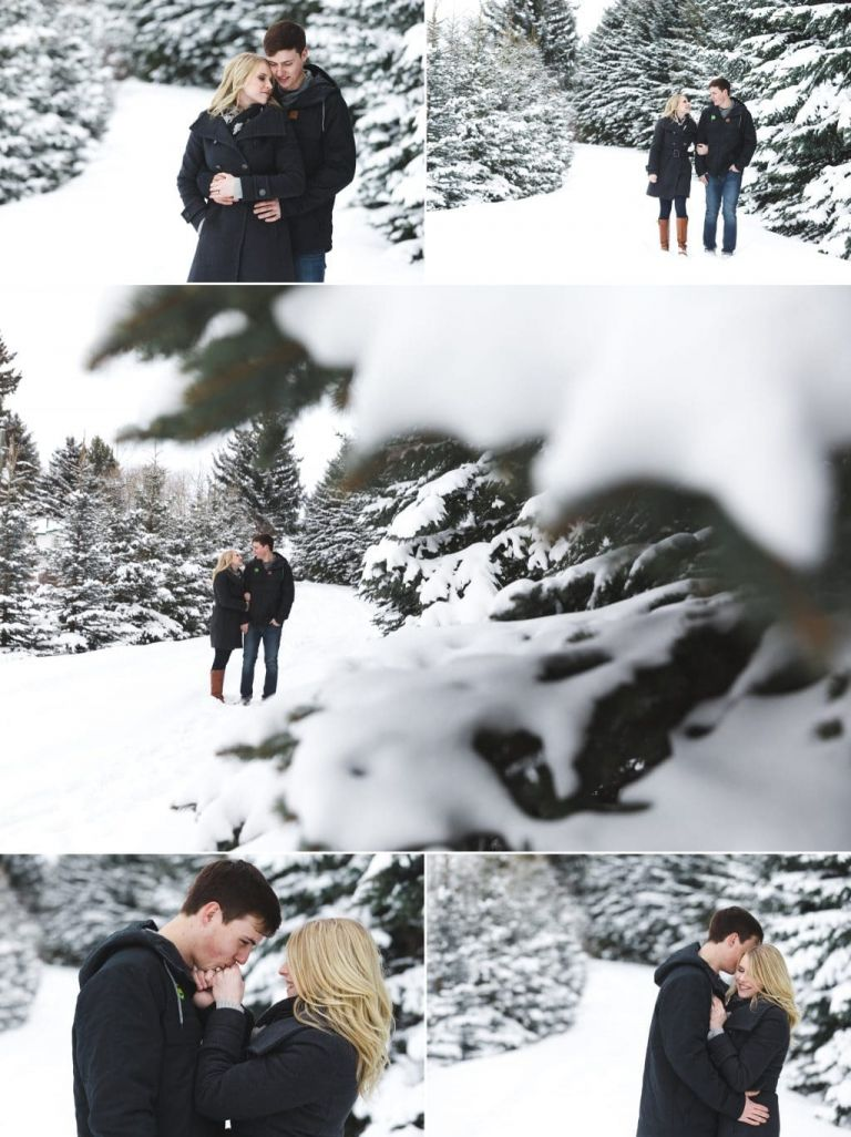 Engagement photography in Edmonton. Spring session turned into a winter photo shoot thanks to Mother Nature