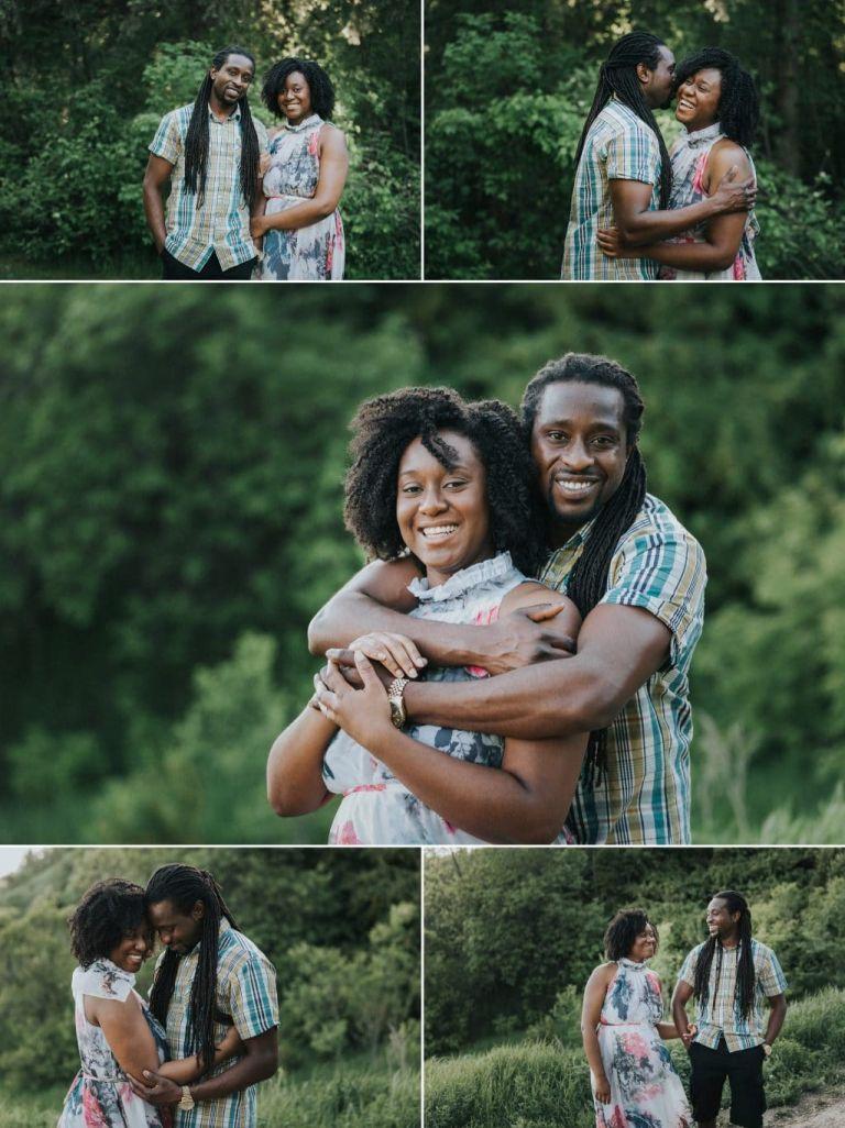 Engagement photos in Edmonton's Goldbar Park