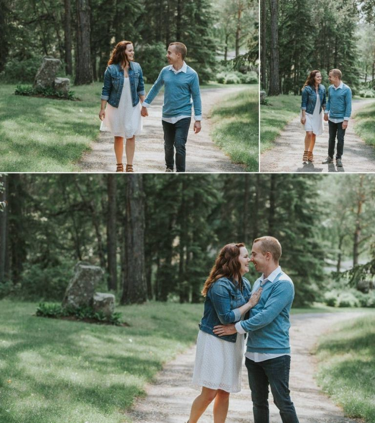 Engagement Photos at the Devonian Botanic Gardens