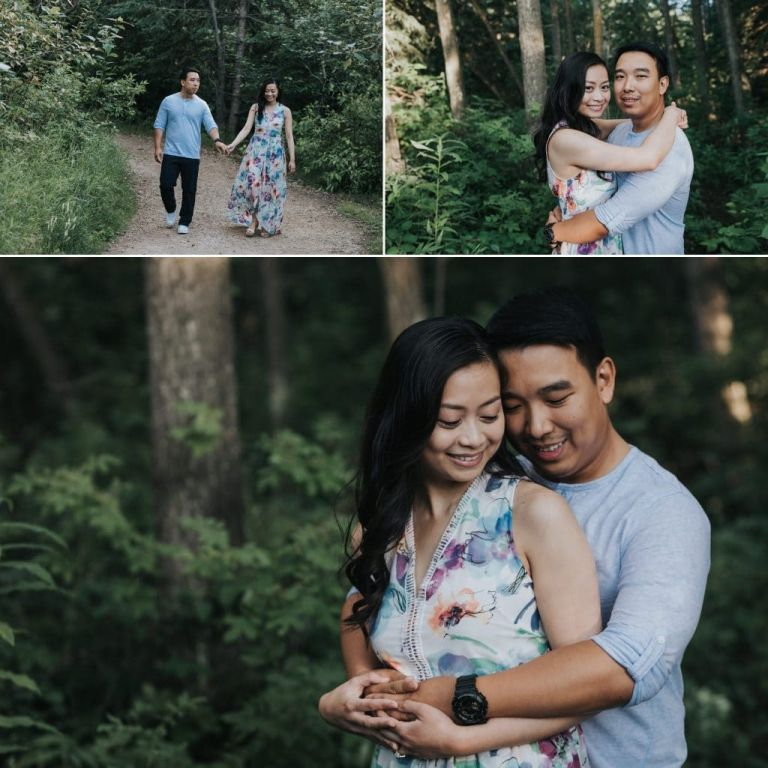 Summer Engagement Photos in Edmonton