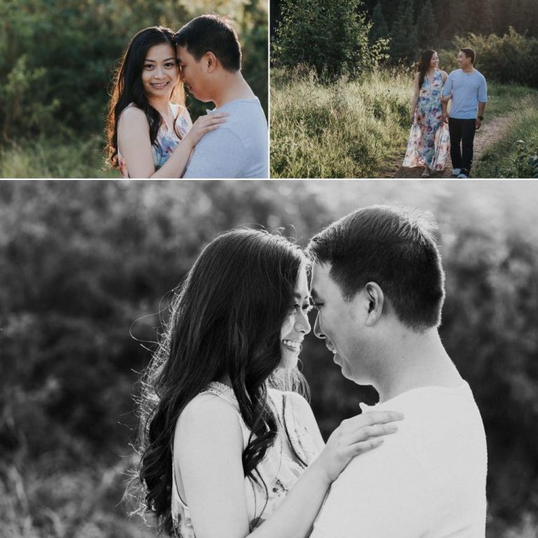 Edmonton Engagement Photos in Whitemud Creek