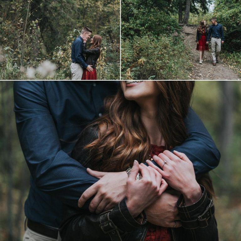 Fall Engagement Photos in Edmonton