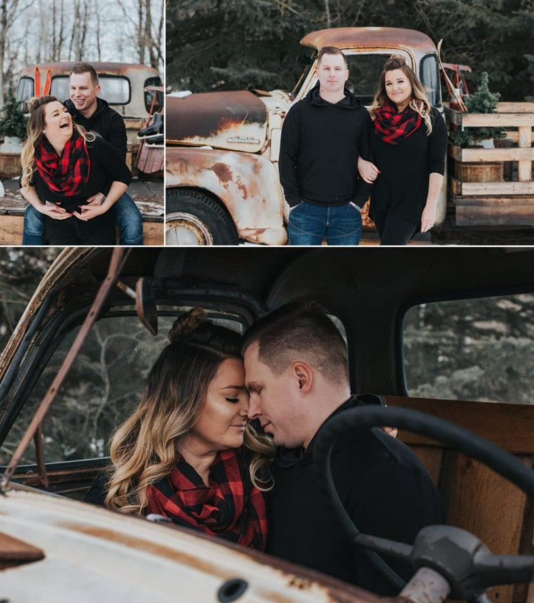 Kim & Terry's Winter Engagement Photos at Olde Back Roads