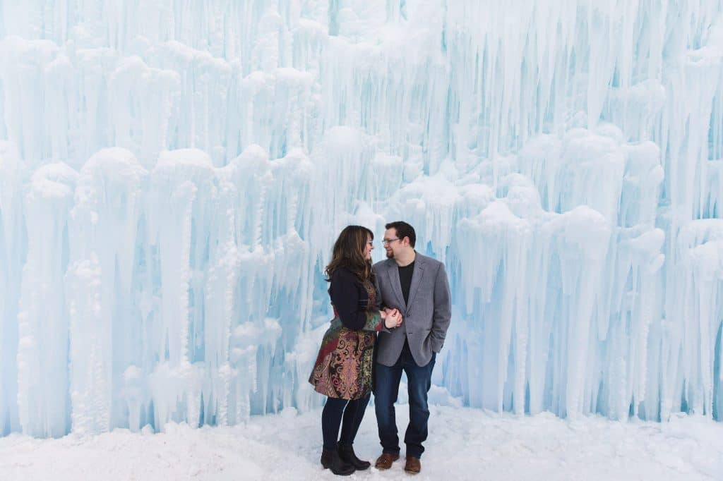 Engagement Photos at the Ice Castles in Edmonton