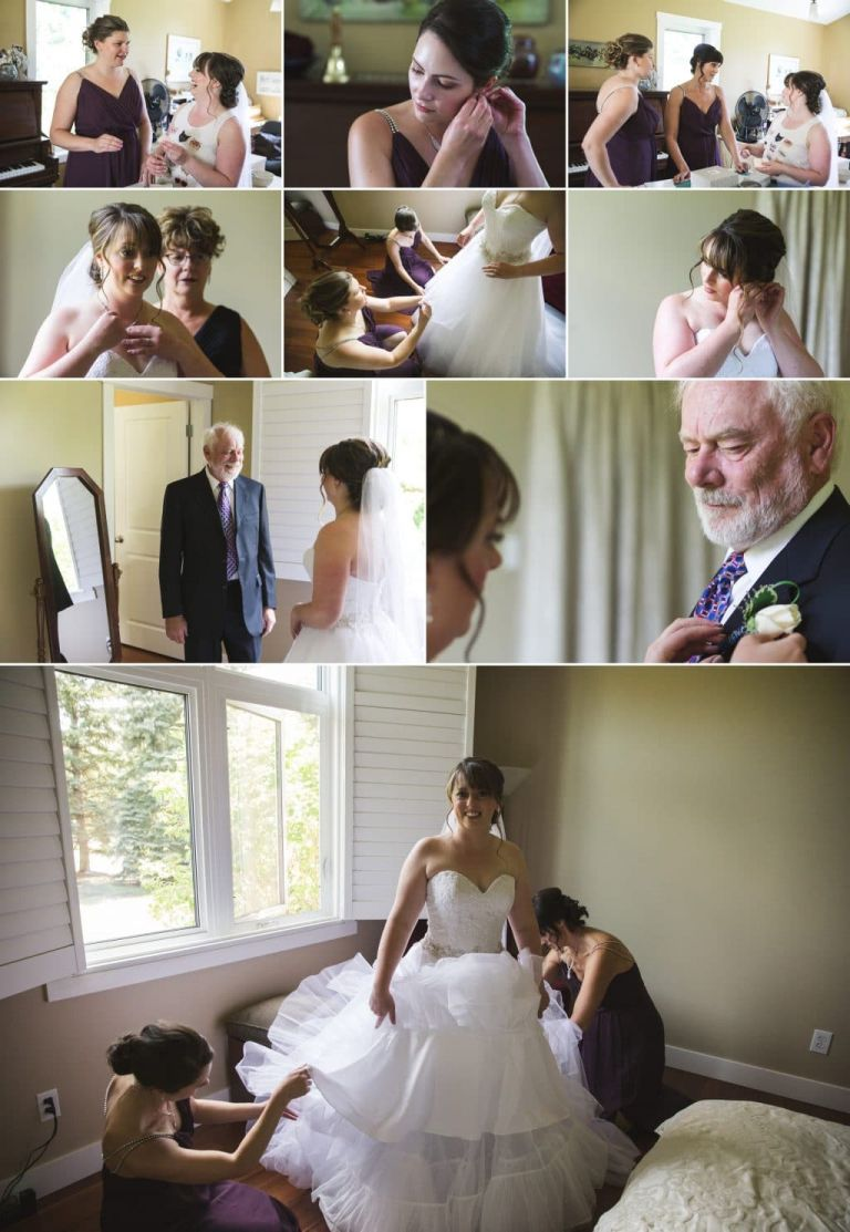 Bride Getting ready in Edmonton - Acreage Wedding in Edmonton