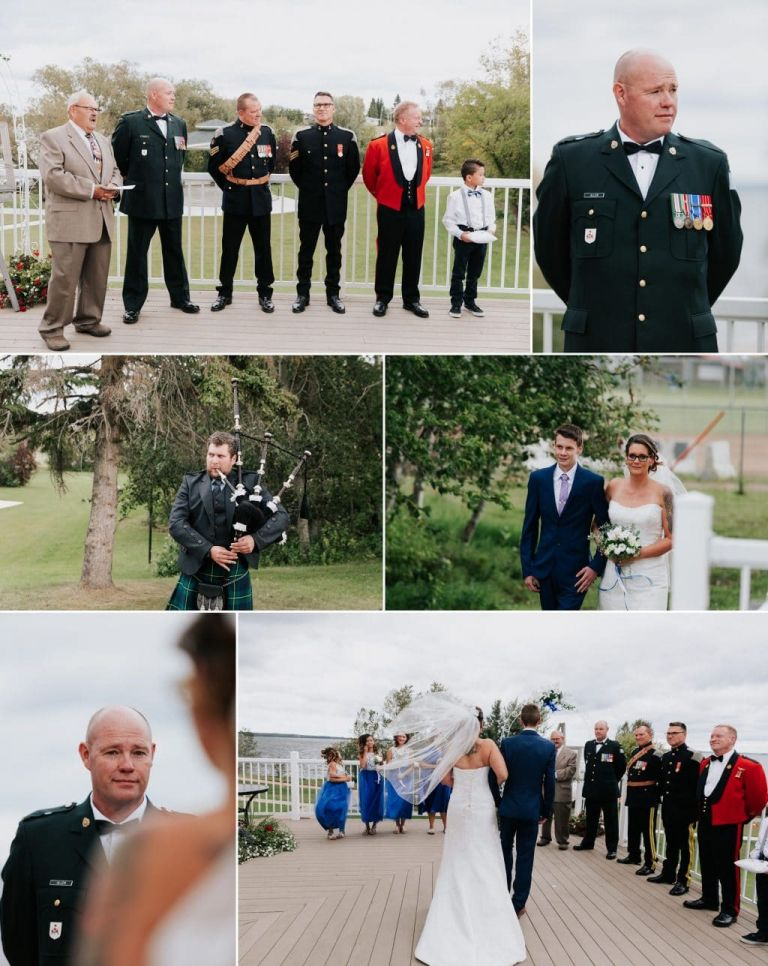 Wedding Ceremony at MacArthur Place in Lac La Biche