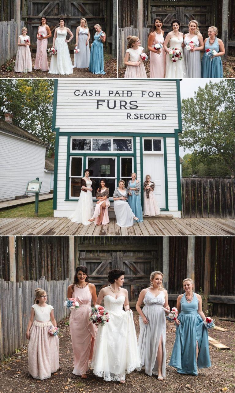 Wedding photos at Fort Edmonton Park