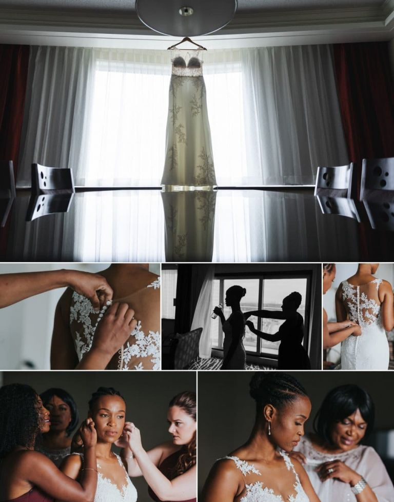 Bride Getting ready photos at the Chateau Lacombe in Edmonton, Alberta
