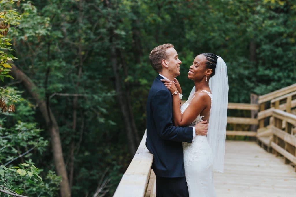 Aleyette & Hayden's Fall Wedding Photos in Mill Creek Ravine