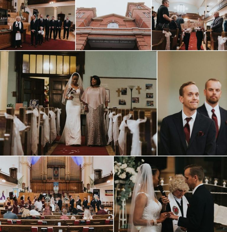 Wedding Photography at McDougall United Church in Edmonton