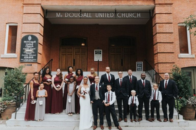 Wedding Photography at McDougall United Church in Edmonton