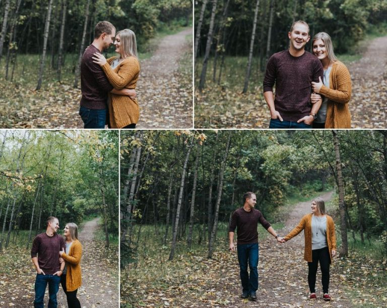 Engagement Photos in Edmonton's Whitemud Park