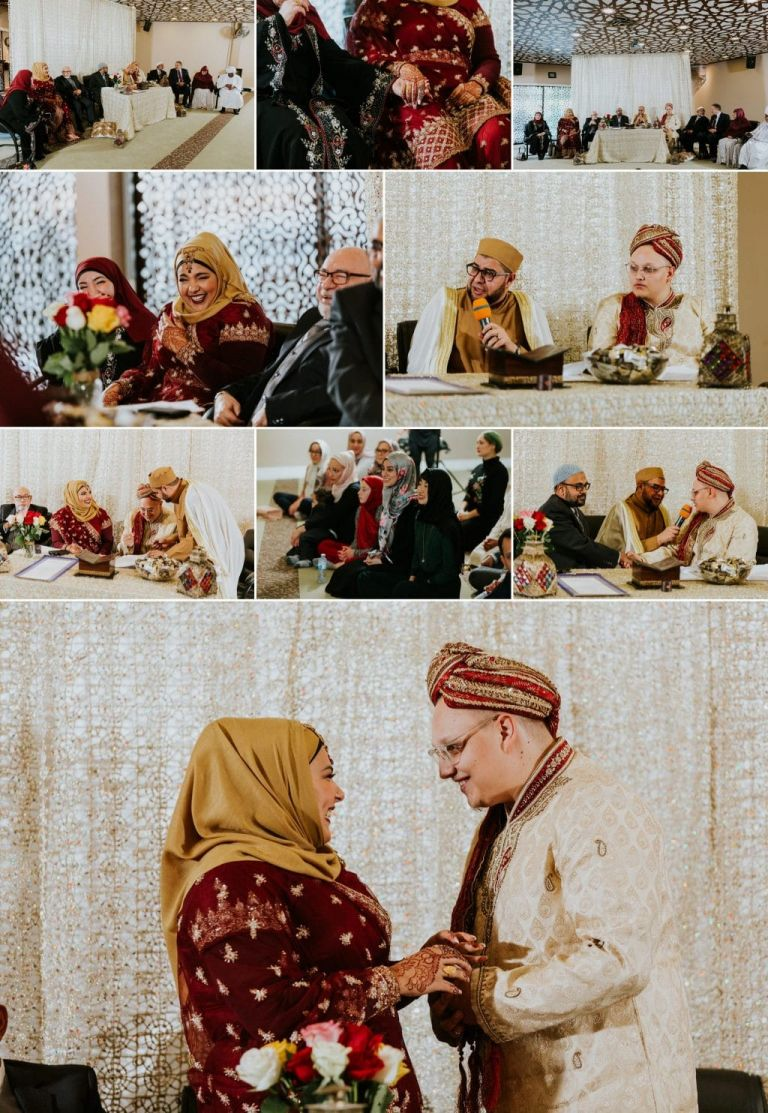 Nikah ceremony in Edmonton at the Rahma Mosque