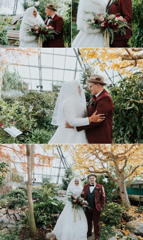 Wedding Photos at the Muttart Conservatory in Edmonton