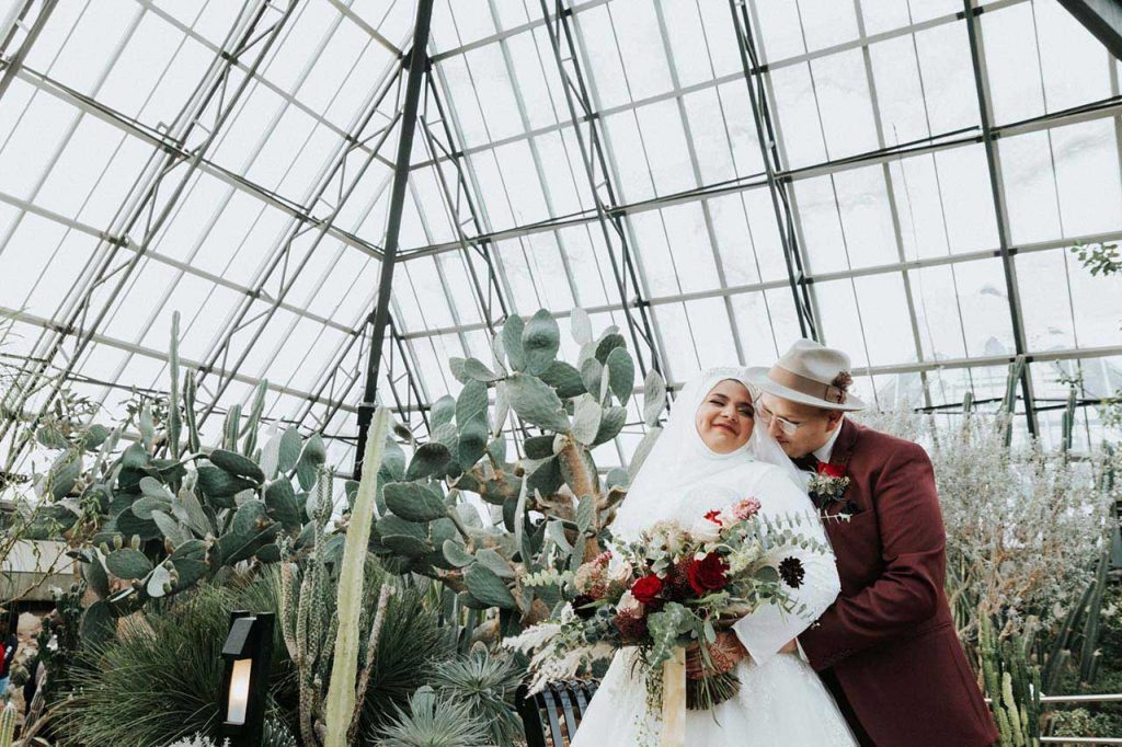 Wedding Photography at the Muttart Conservatory in Edmonton