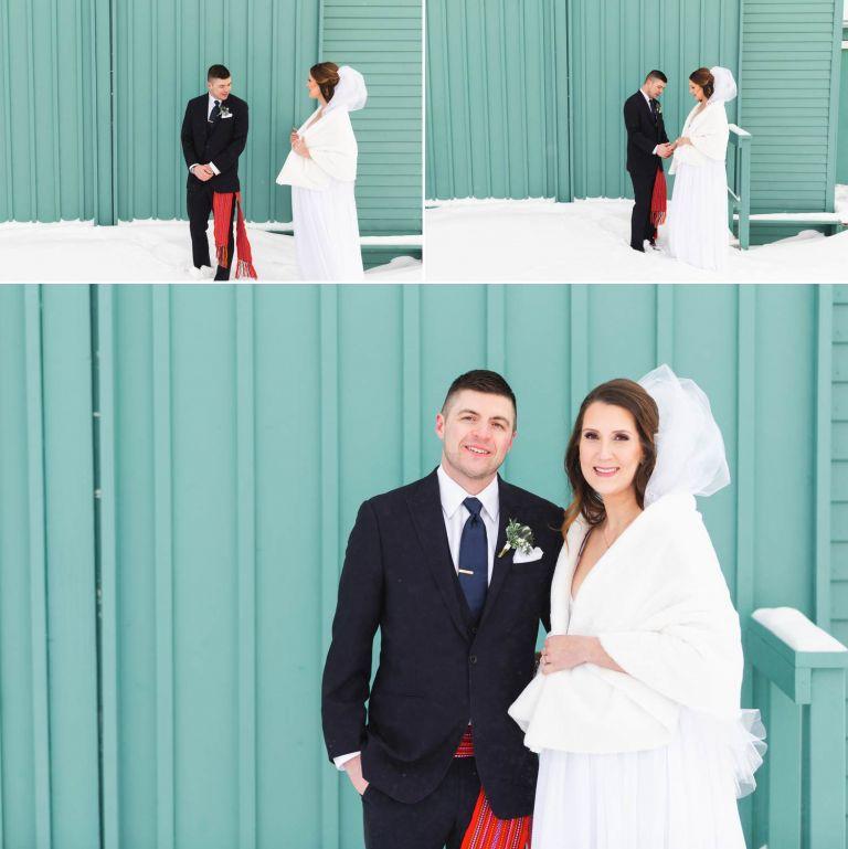 Wedding Photos at the St. Albert Grain Elevator Park
