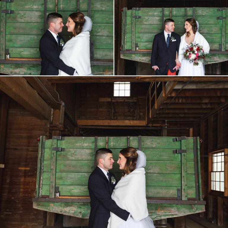 Bride & Groom photos at the St. Albert Grain Elevator Park