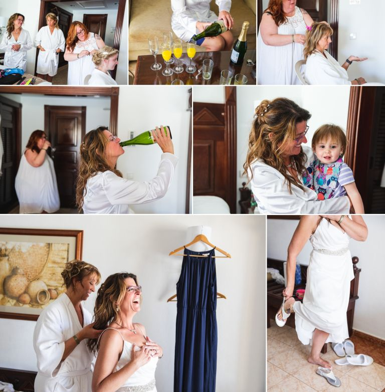 Bride getting ready at the Hotel Riu Palace Cabo San Lucas