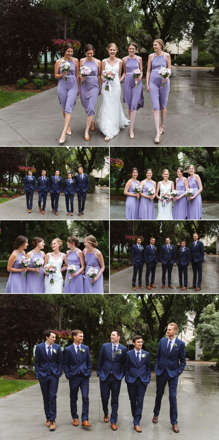 Edmonton Wedding Photographers - Bridal Party Photos at the University of Alberta
