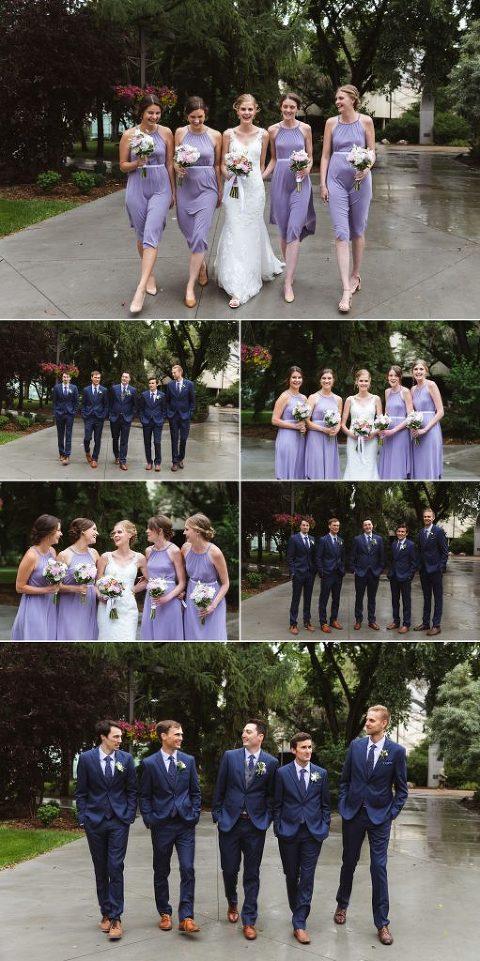 Edmonton Wedding Photographers - Bridal Party Photos at the University of Alberta