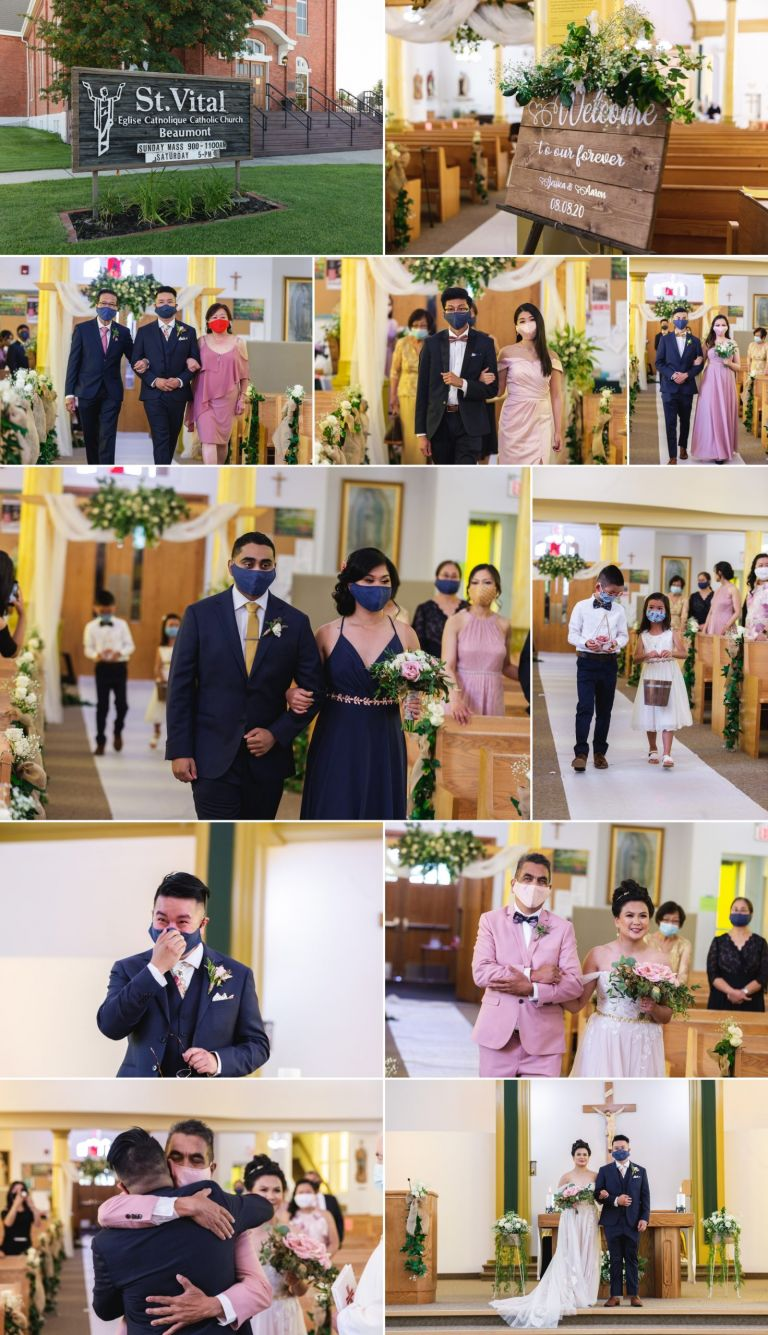 Covid-19 Wedding Ceremony - St. Vital Parish in Beaumont