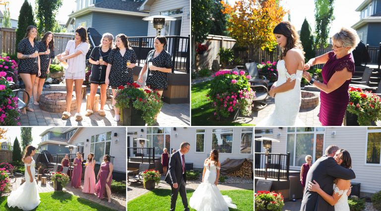Fall Wedding in Edmonton - Bride Getting Ready photos