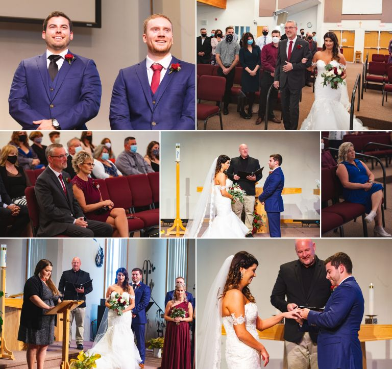 Fall Wedding in Edmonton - Ceremony at Bethel United Church in Sherwood Park